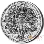 Cook Islands 12 GODS OF OLYMPUS Concave Shape Multiple Layer Minting 3D Effect 2015 Antique finish $50 Silver Coin 1 Kilo / 32.15 oz